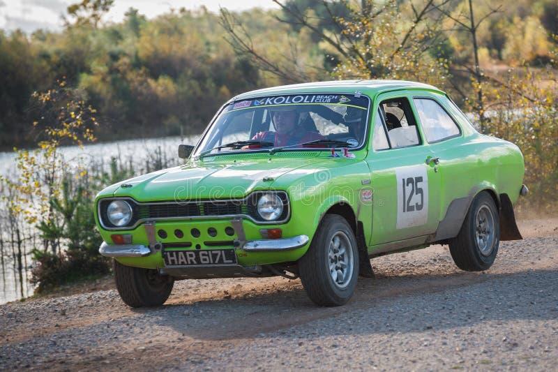 Coche de la reunión de Ford Escort MK1 fotografía de archivo libre de regalías