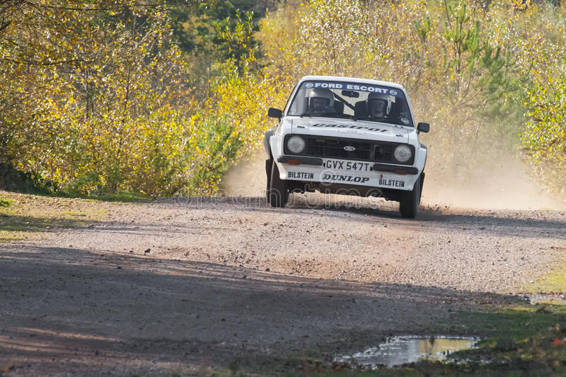 Coche de la reunión de Ford Escort RS foto de archivo