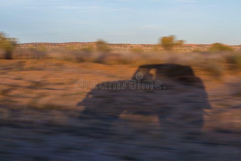 Coche de la sombra fotografía de archivo