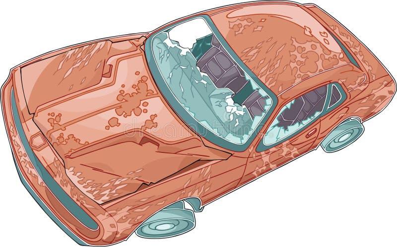 Coche de los desperdicios ilustración del vector