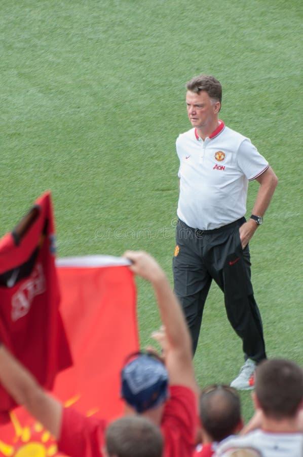 Coche de Louis van Gaal del Manchester United fotografía de archivo