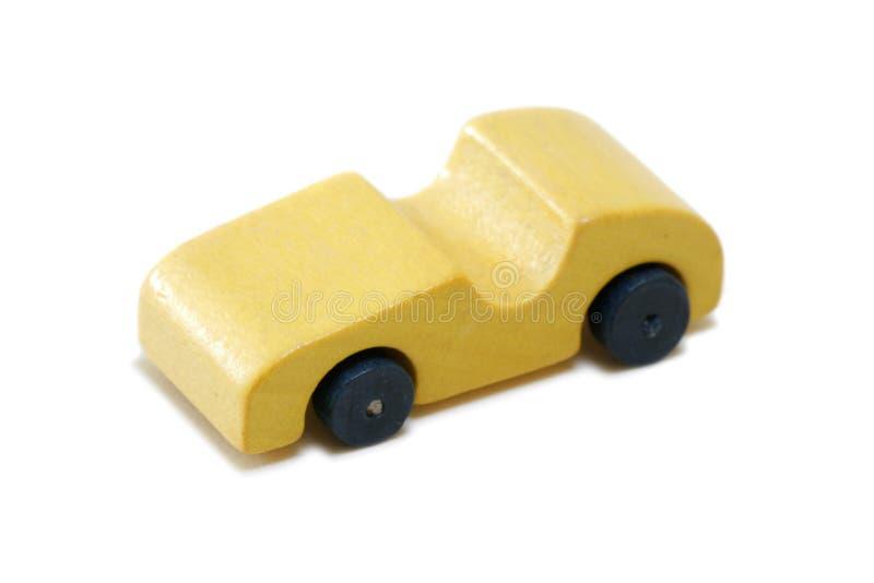 Coche de madera miniatura de la vendimia fotografía de archivo libre de regalías