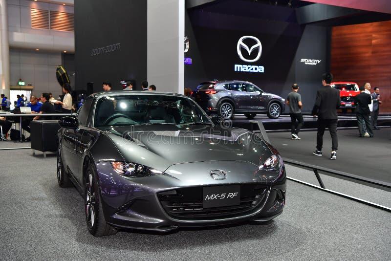 Coche de Mazda MX-5 RF en la expo internacional del motor de Tailandia fotografía de archivo