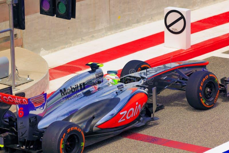 Coche de Mercedes F1 imágenes de archivo libres de regalías