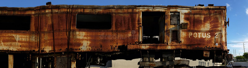 Coche de tren viejo foto de archivo libre de regalías