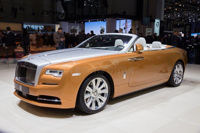 Coche del amanecer de Rolls Royce imagenes de archivo