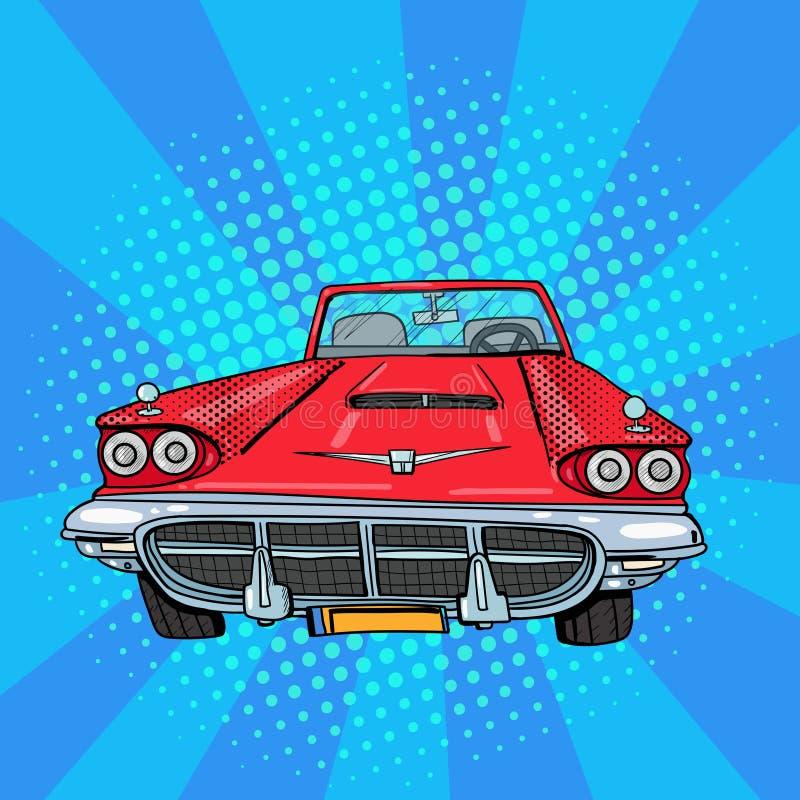 Coche del americano de la vendimia Vehículo retro Arte pop stock de ilustración