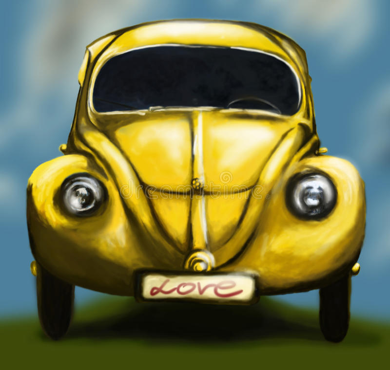 Coche del amor libre illustration