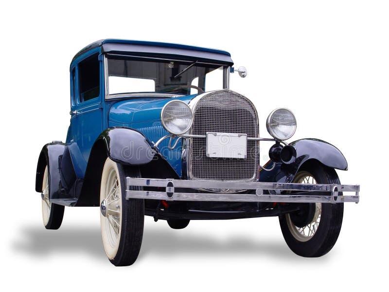 Coche del azul de la vendimia imagen de archivo