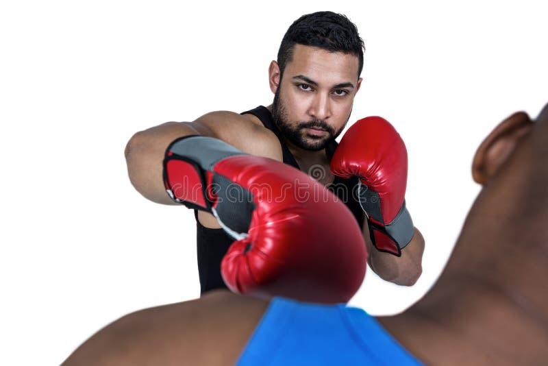 Coche del boxeo con su combatiente imagen de archivo libre de regalías