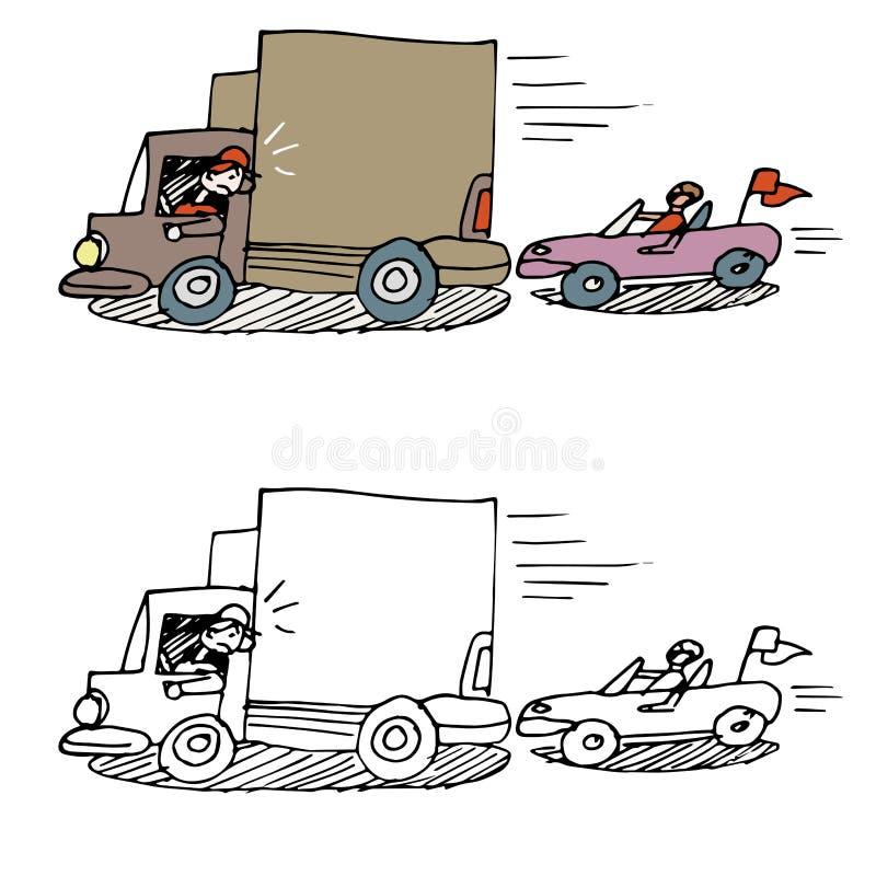 Coche del chupar rueda ilustración del vector