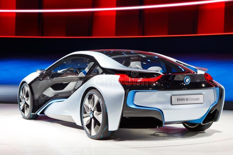 Coche del concepto de BMW i8 fotos de archivo libres de regalías