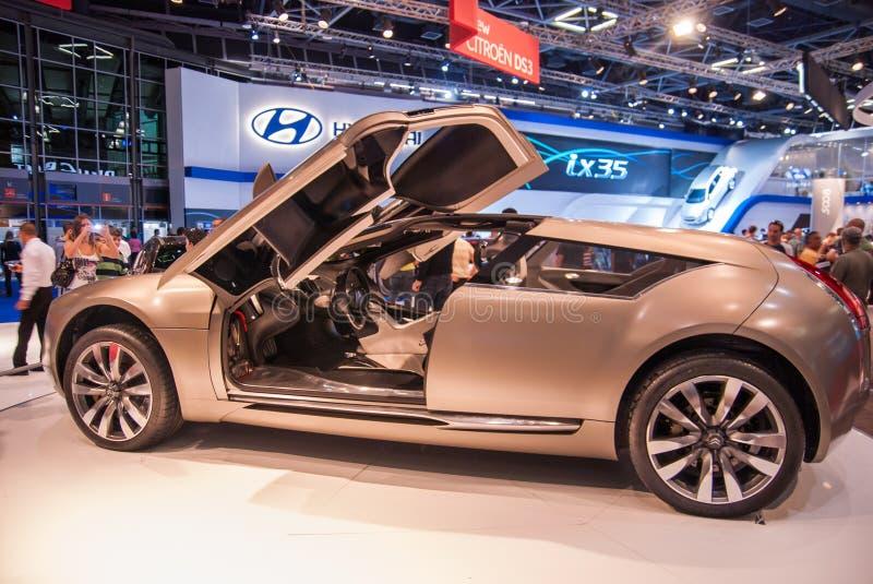Coche del concepto de Citroen C-Metisse presentado en el salón del automóvil de Tel Aviv foto de archivo