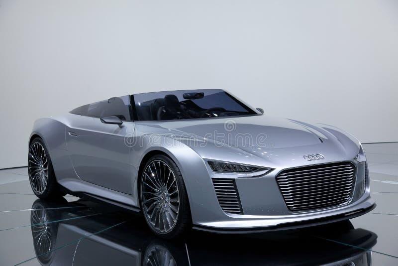 Coche del concepto del e-tron de Audi imagen de archivo