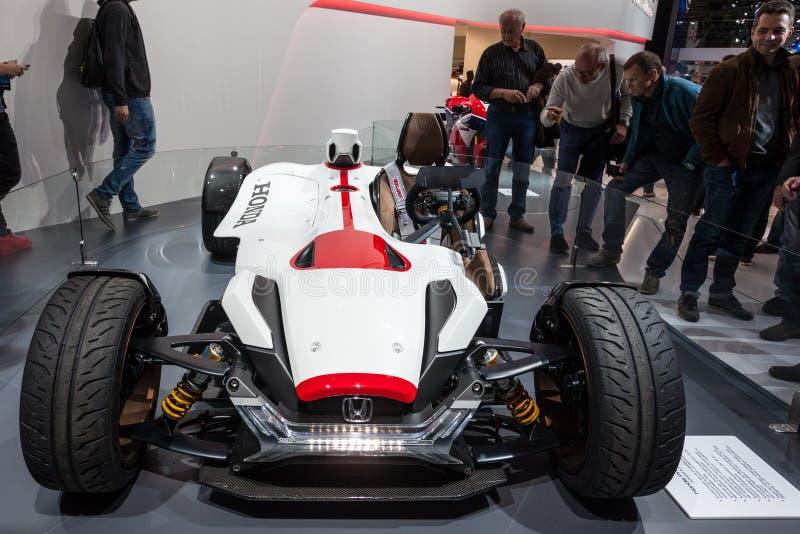 Coche del concepto del proyecto 2 y 4 de Honda en el IAA 2015 imagen de archivo