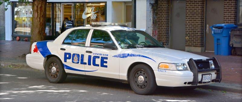 Coche del Departamento de Policía de Vancouver foto de archivo
