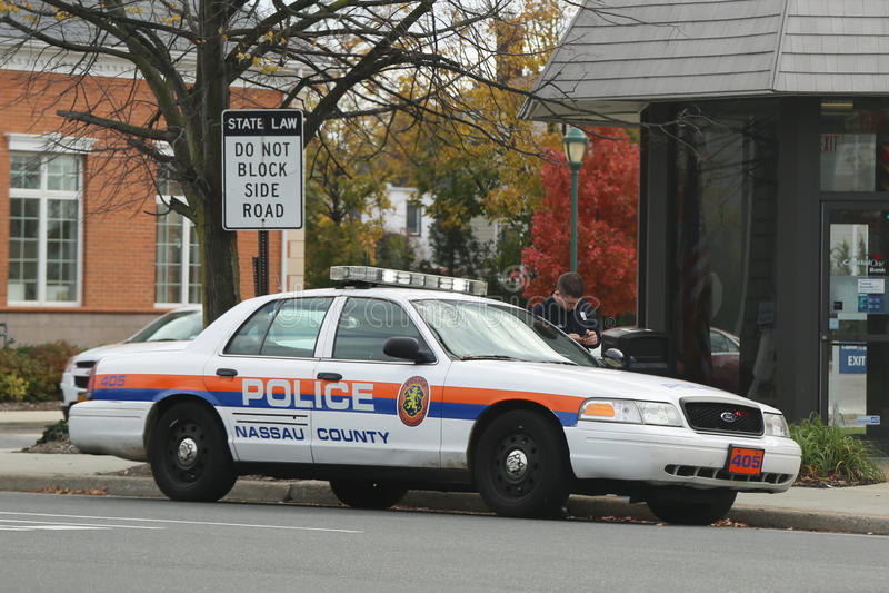 Coche del Departamento de Policía del condado de Nassau fotografía de archivo libre de regalías
