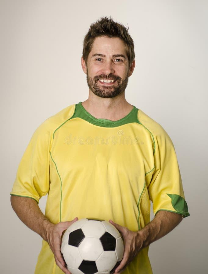 Coche del futbolista del fútbol imagen de archivo libre de regalías