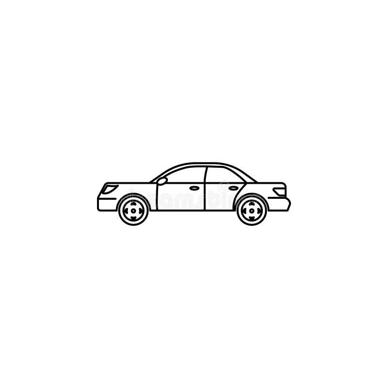 coche del icono de los años ochenta Elemento del icono de la generación para los apps móviles del concepto y del web Línea fina i ilustración del vector
