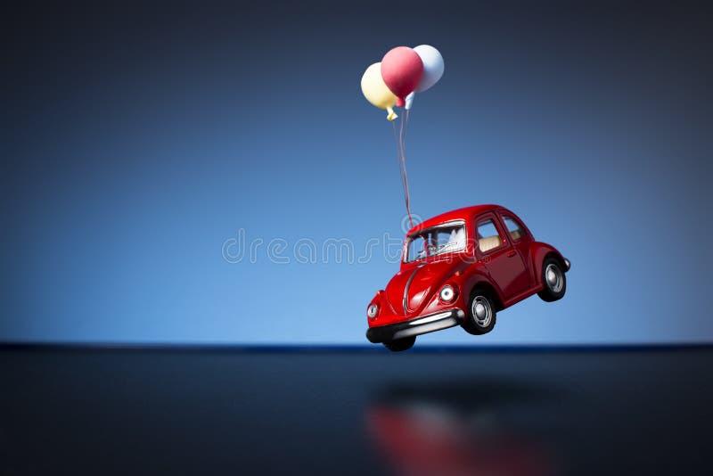 Coche del juguete de Escarabajo Volkswagen fotografía de archivo libre de regalías