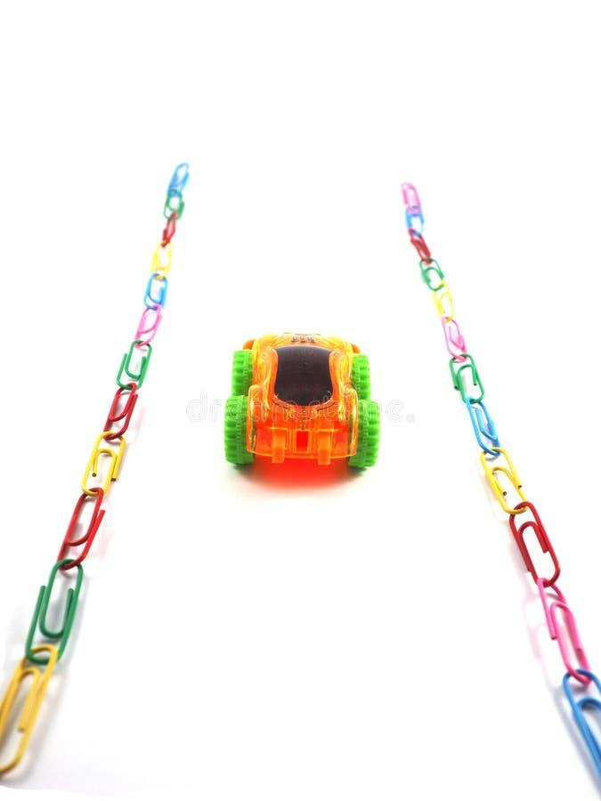 Coche del juguete en la manera foto de archivo