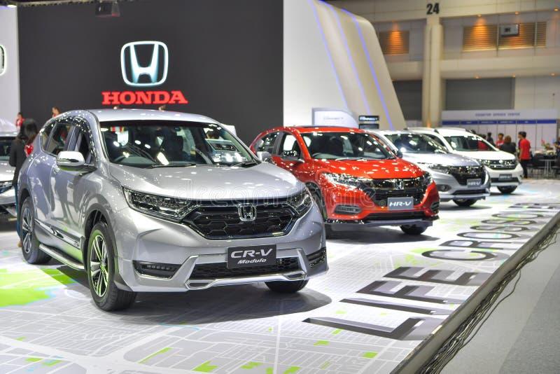 Coche del Modulo de Honda CR-V en la exhibición en la 35ta Tailandia Internatio imagen de archivo
