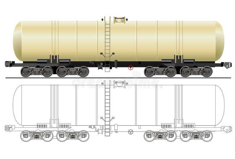 Coche del petrolero de la gasolina del vector libre illustration