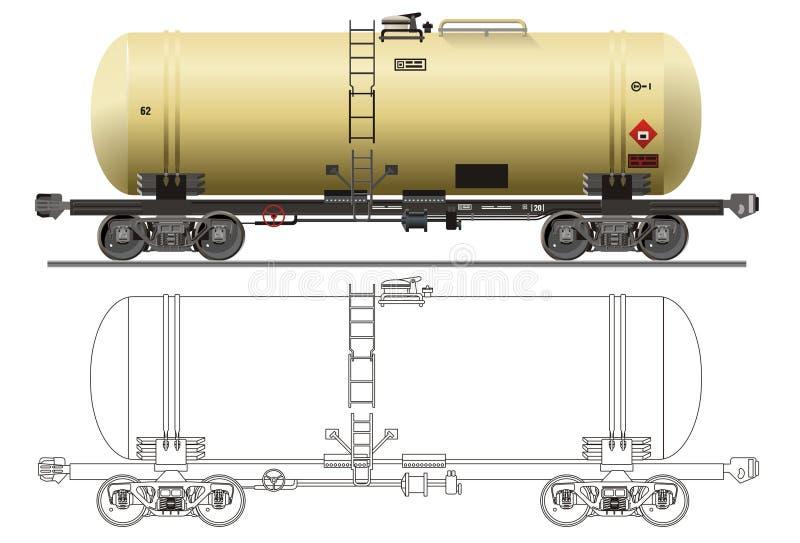 Coche del petrolero del petróleo/de la gasolina libre illustration