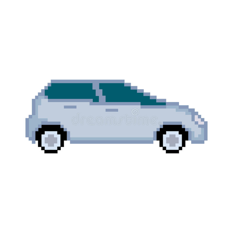 Coche del pixel stock de ilustración