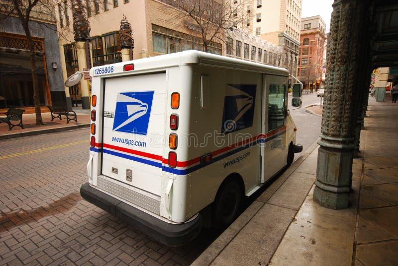 Coche del reparto del correo de los E.E.U.U. foto de archivo