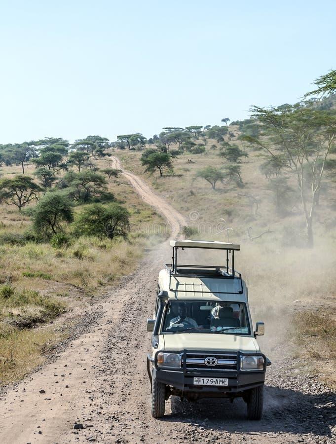 Coche del safari imágenes de archivo libres de regalías