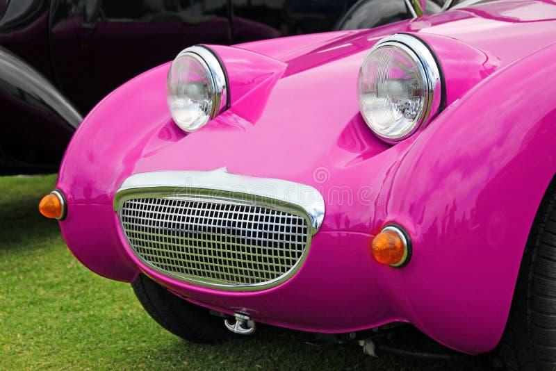 Coche del sprite del frogeye del rosa de Barbie foto de archivo libre de regalías