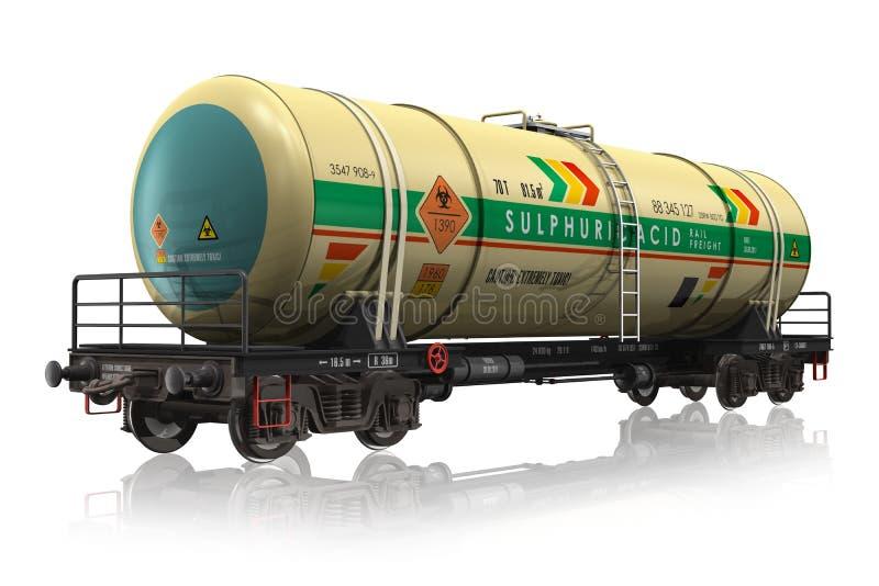 Coche del tanque químico del ferrocarril ilustración del vector