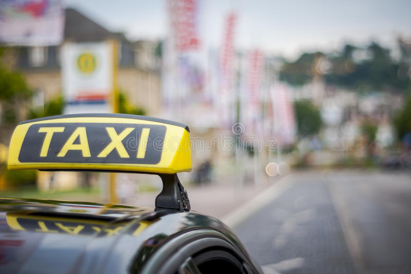 Coche del taxi foto de archivo