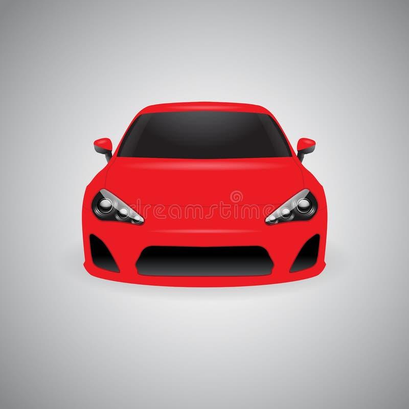Coche deportivo brillante rojo del vector imagenes de archivo