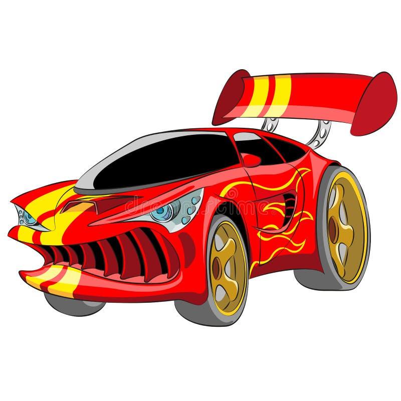 Coche deportivo rojo libre illustration