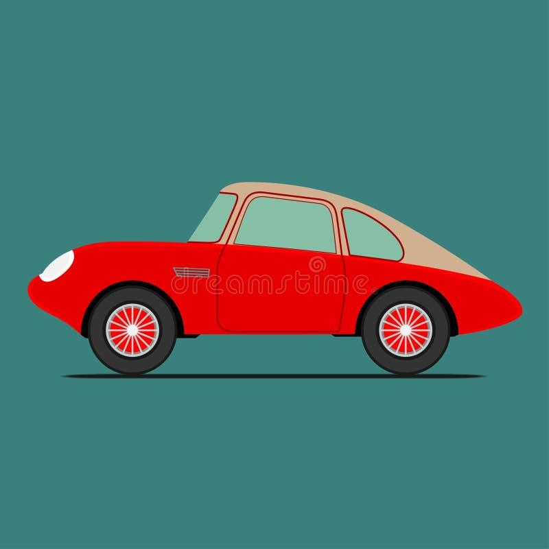 Coche deportivo rojo stock de ilustración