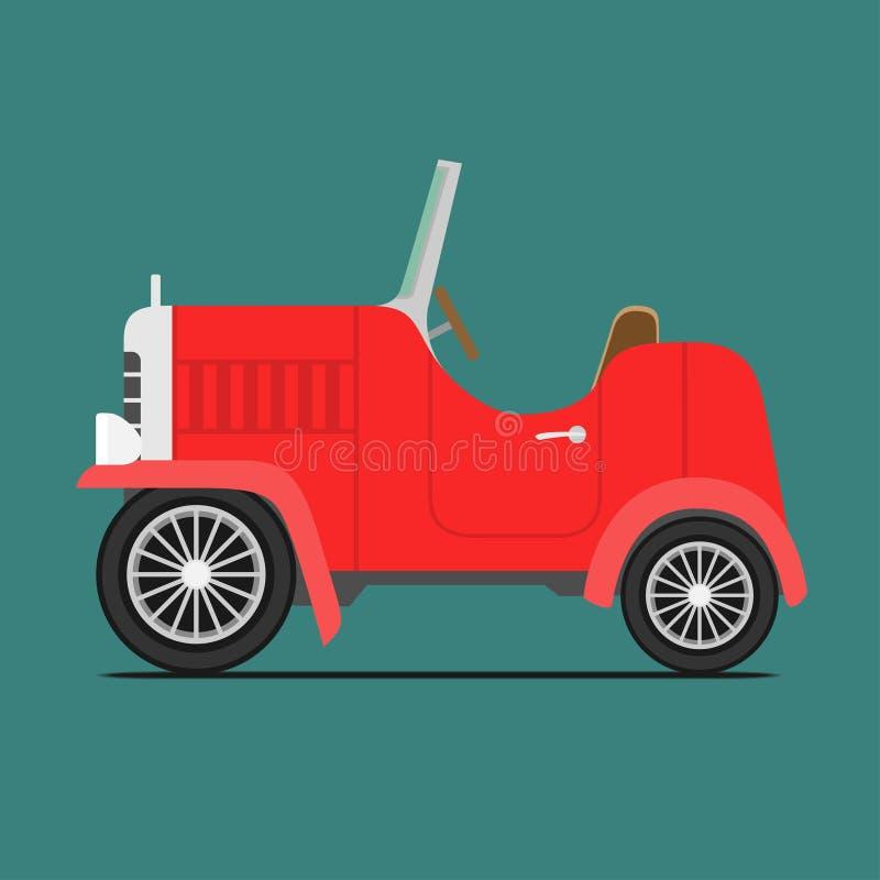Coche deportivo rojo ilustración del vector