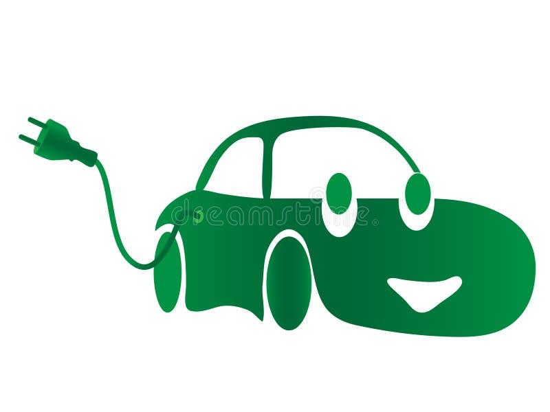 Coche eléctrico verde libre illustration