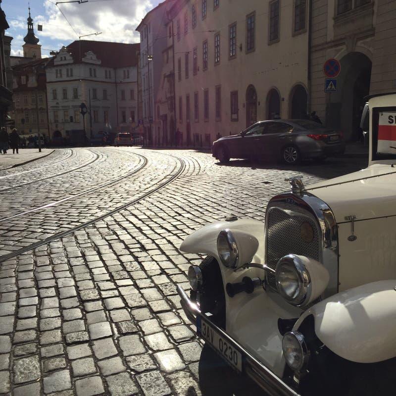 Coche en Praga imágenes de archivo libres de regalías