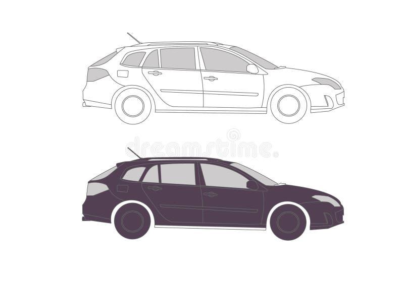 Coche en s para la presentación ilustración del vector