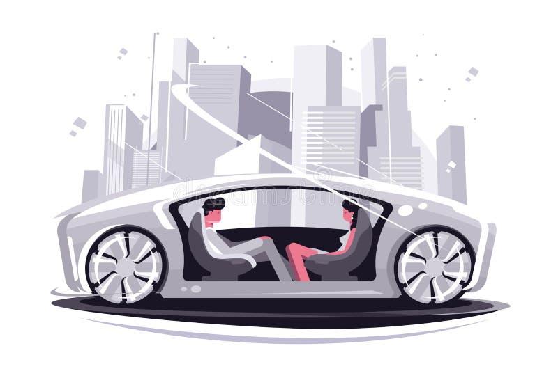 Coche estupendo del futuro ilustración del vector