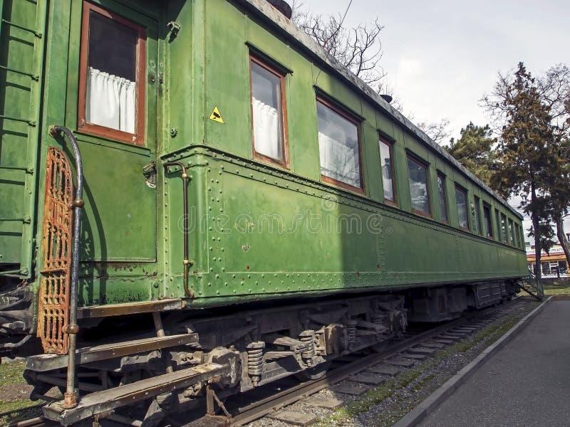 Coche ferroviario que fue a Stalin IV el país fotografía de archivo libre de regalías