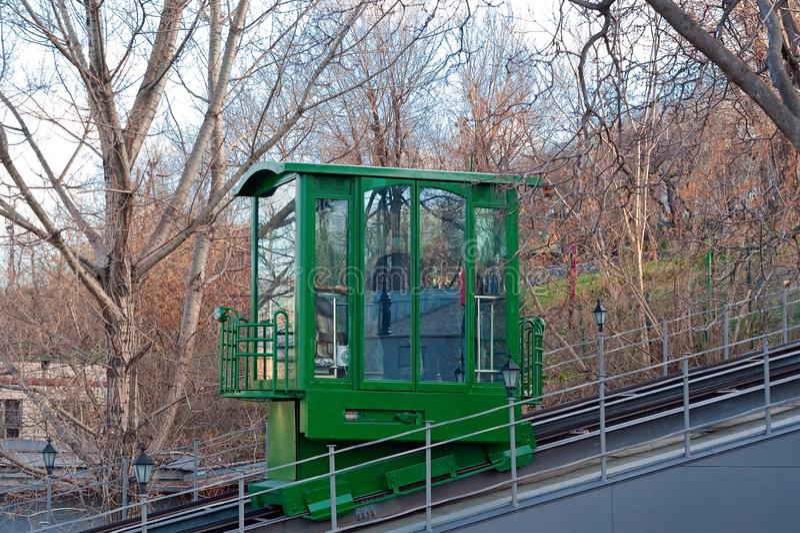 Coche funicular en Odesa, Ucrania foto de archivo