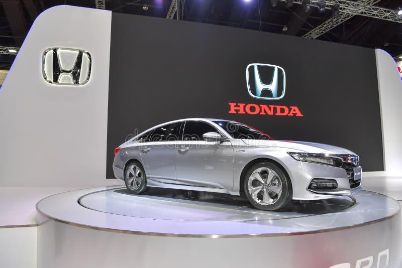 Coche híbrido de Honda Accord en la exhibición en la 35ta expo internacional del motor de Tailandia el 28 de noviembre fotos de archivo libres de regalías