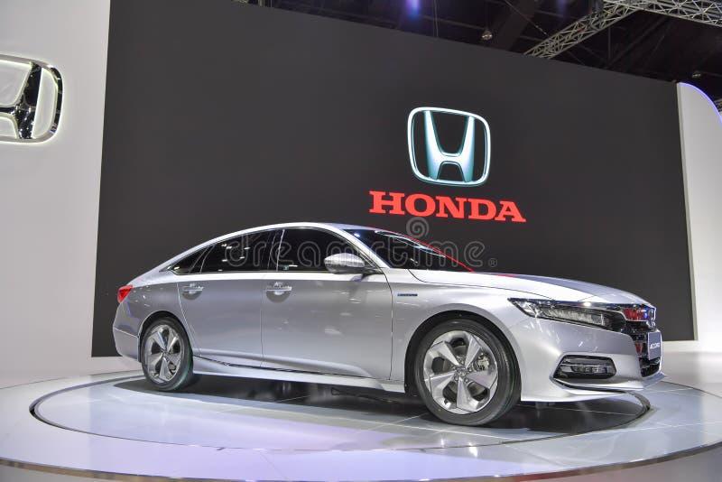 Coche híbrido de Honda Accord en la exhibición en la 35ta expo internacional del motor de Tailandia el 28 de noviembre fotografía de archivo libre de regalías