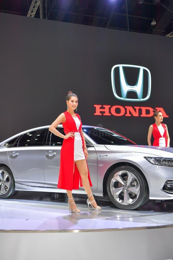 Coche híbrido de Honda Accord en la exhibición en la 35ta expo internacional del motor de Tailandia el 28 de noviembre fotos de archivo