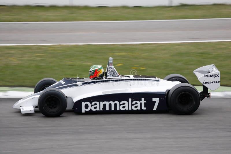 Coche histórico Brabham BT49C del Fórmula 1 fotos de archivo