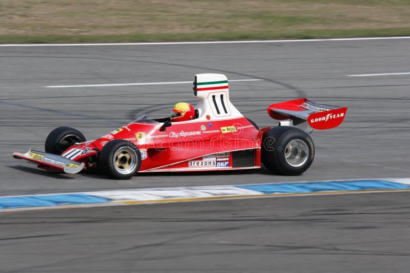 Coche histórico del Fórmula 1, ferrari 312t fotos de archivo libres de regalías