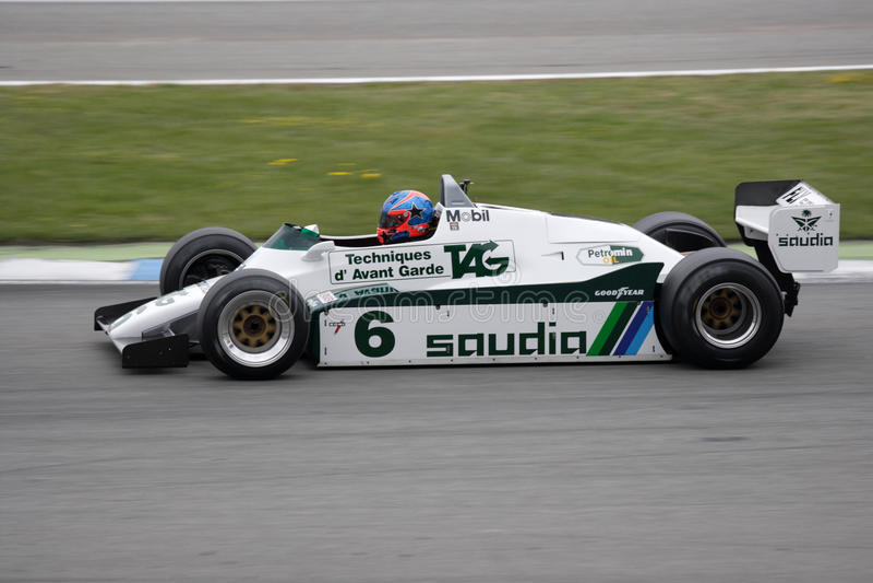 Coche histórico Williams FW08 del Fórmula 1 imagen de archivo